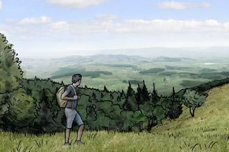 """Simulation de """"remise en prairie"""" au mont Beuvray"""
