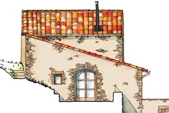 Élévations d'une maison ancienne à Auzon