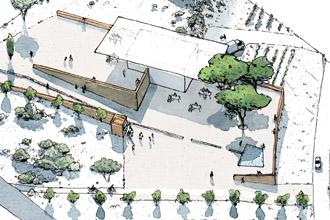 """Bloc diagramme du projet """"Jardins de la Méditerranée"""""""