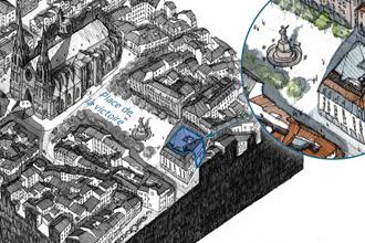 Bloc diagramme - centre historique de Clermont-Ferrand